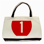 New Zealand State Highway 1 Basic Tote Bag Front