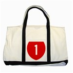 New Zealand State Highway 1 Two Tone Tote Bag Front