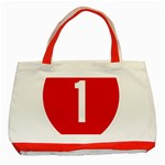 New Zealand State Highway 1 Classic Tote Bag (Red) Front