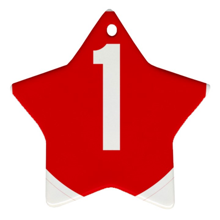New Zealand State Highway 1 Star Ornament (Two Sides)