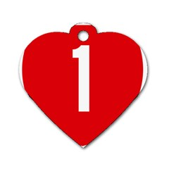 New Zealand State Highway 1 Dog Tag Heart (two Sides)