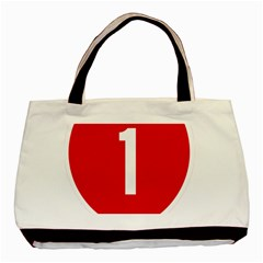 New Zealand State Highway 1 Basic Tote Bag (Two Sides)
