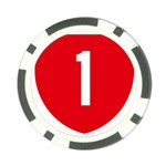 New Zealand State Highway 1 Poker Chip Card Guards Front