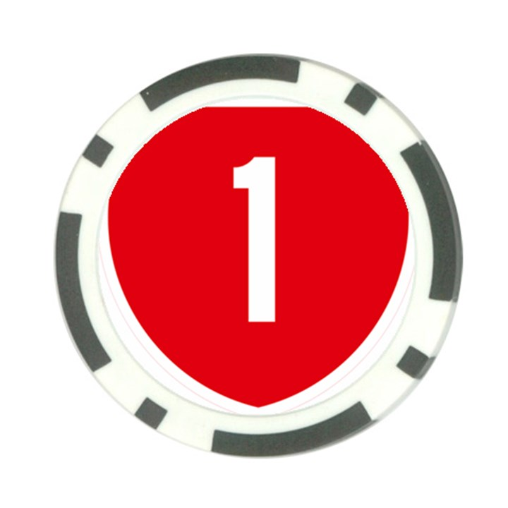 New Zealand State Highway 1 Poker Chip Card Guards