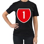 New Zealand State Highway 1 Women s T-Shirt (Black) Front