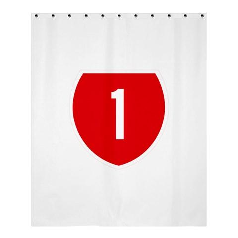 New Zealand State Highway 1 Shower Curtain 60  x 72  (Medium)