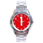 New Zealand State Highway 1 Stainless Steel Analogue Watch Front