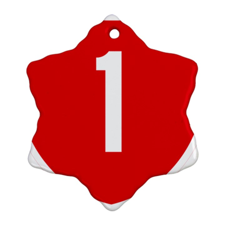 New Zealand State Highway 1 Snowflake Ornament (2-Side)
