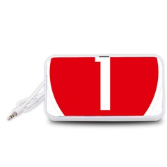New Zealand State Highway 1 Portable Speaker (White)