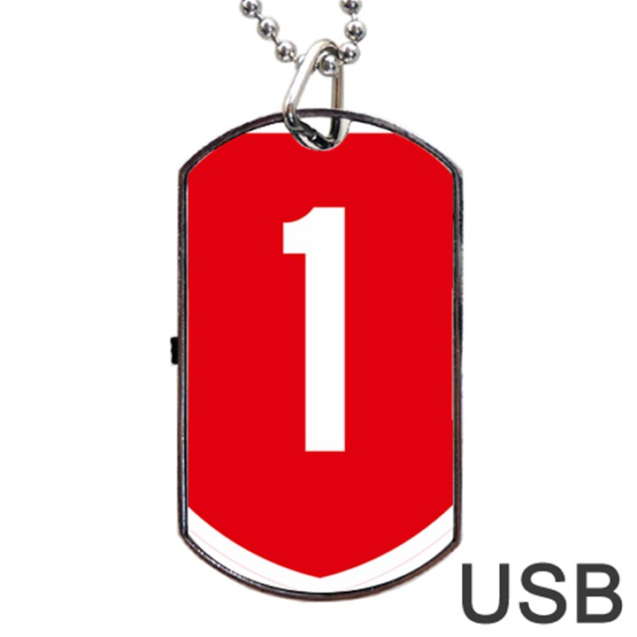 New Zealand State Highway 1 Dog Tag USB Flash (One Side)