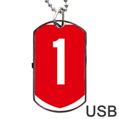 New Zealand State Highway 1 Dog Tag Usb Flash (two Sides)