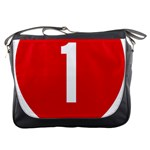 New Zealand State Highway 1 Messenger Bags Front