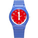 New Zealand State Highway 1 Round Plastic Sport Watch (S) Front