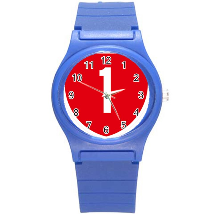 New Zealand State Highway 1 Round Plastic Sport Watch (S)