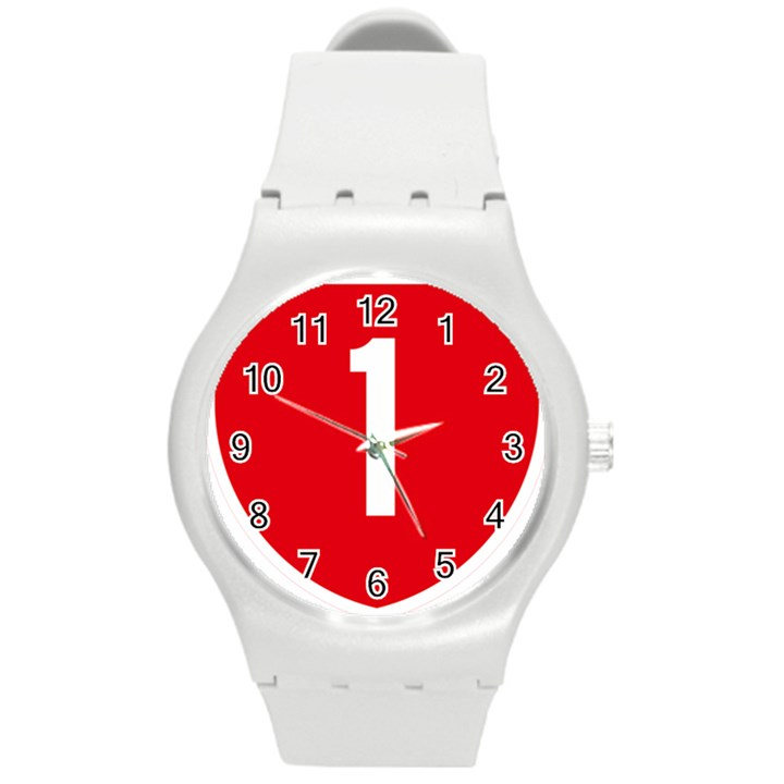 New Zealand State Highway 1 Round Plastic Sport Watch (M)