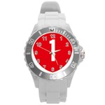 New Zealand State Highway 1 Round Plastic Sport Watch (L) Front