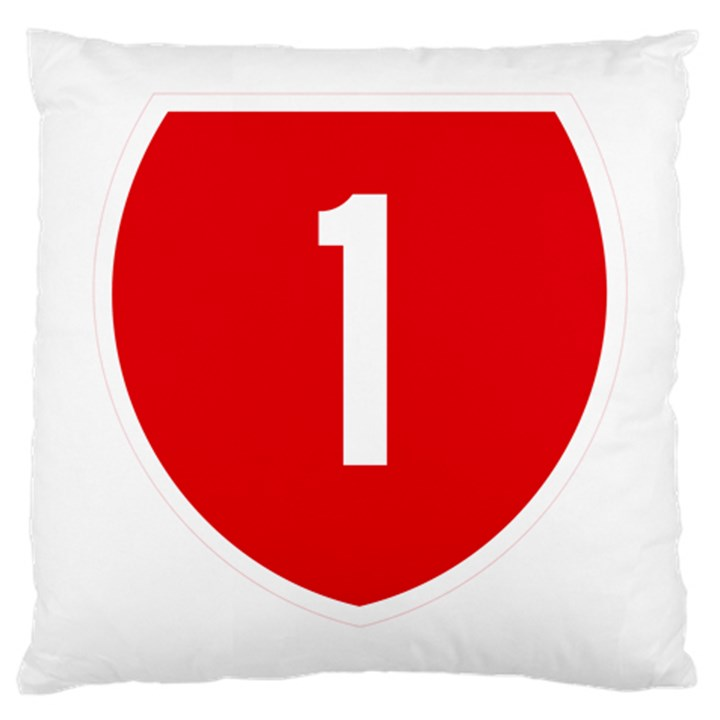 New Zealand State Highway 1 Large Cushion Case (Two Sides)