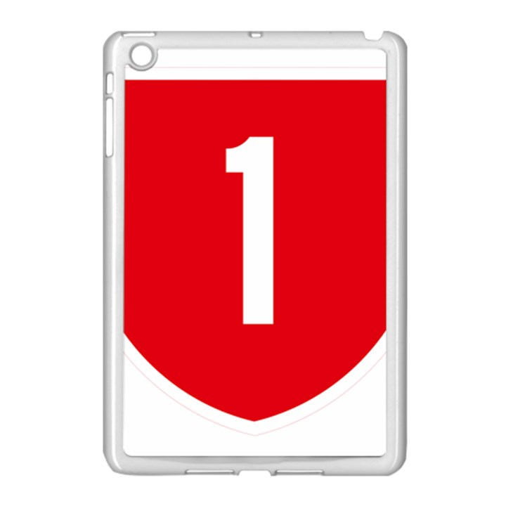 New Zealand State Highway 1 Apple iPad Mini Case (White)