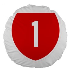 New Zealand State Highway 1 Large 18  Premium Round Cushions