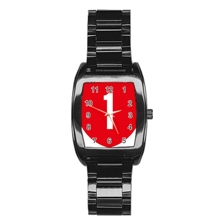 New Zealand State Highway 1 Stainless Steel Barrel Watch