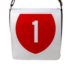 New Zealand State Highway 1 Flap Messenger Bag (L)