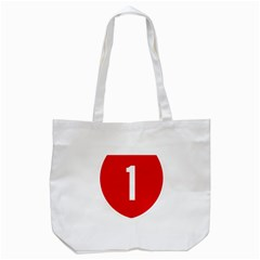 New Zealand State Highway 1 Tote Bag (white)