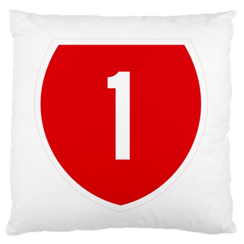 New Zealand State Highway 1 Standard Flano Cushion Case (One Side)