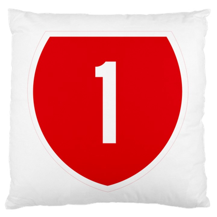 New Zealand State Highway 1 Large Flano Cushion Case (Two Sides)