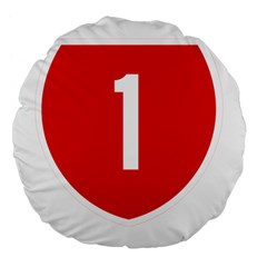 New Zealand State Highway 1 Large 18  Premium Flano Round Cushions