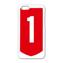 New Zealand State Highway 1 Apple Iphone 6/6s White Enamel Case