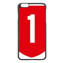 New Zealand State Highway 1 Apple Iphone 6 Plus/6s Plus Black Enamel Case