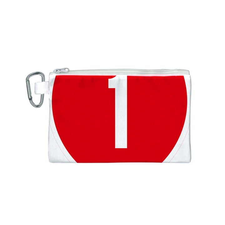 New Zealand State Highway 1 Canvas Cosmetic Bag (S)