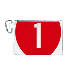 New Zealand State Highway 1 Canvas Cosmetic Bag (M)