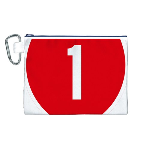 New Zealand State Highway 1 Canvas Cosmetic Bag (L)