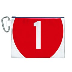 New Zealand State Highway 1 Canvas Cosmetic Bag (XL)