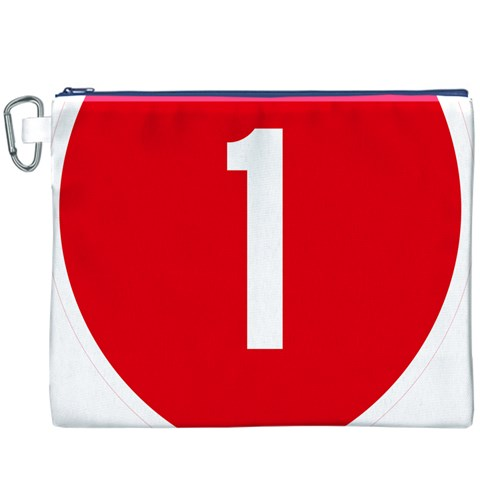 New Zealand State Highway 1 Canvas Cosmetic Bag (XXXL)