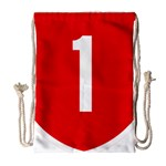 New Zealand State Highway 1 Drawstring Bag (Large) Front