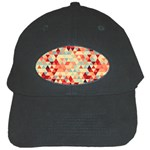 Modern Hipster Triangle Pattern Red Blue Beige Black Cap Front