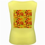 Modern Hipster Triangle Pattern Red Blue Beige Women s Yellow Tank Top Back
