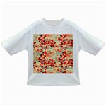 Modern Hipster Triangle Pattern Red Blue Beige Infant/Toddler T-Shirts Front