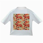 Modern Hipster Triangle Pattern Red Blue Beige Infant/Toddler T-Shirts Back