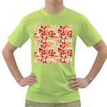 Modern Hipster Triangle Pattern Red Blue Beige Green T-Shirt Front