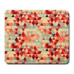 Modern Hipster Triangle Pattern Red Blue Beige Large Mousepads Front