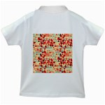 Modern Hipster Triangle Pattern Red Blue Beige Kids White T-Shirts Back