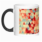 Modern Hipster Triangle Pattern Red Blue Beige Morph Mugs Left