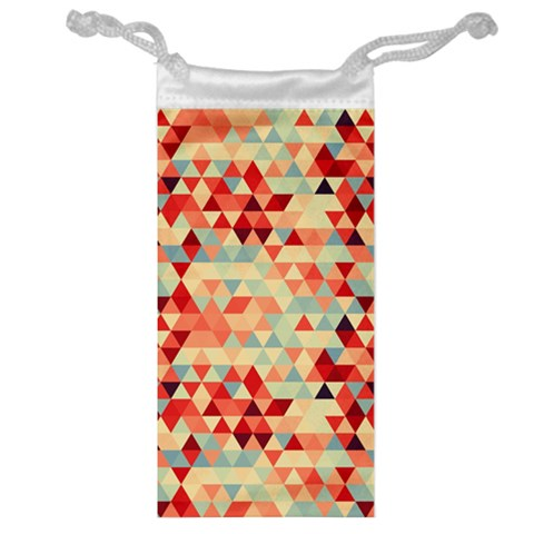 Modern Hipster Triangle Pattern Red Blue Beige Jewelry Bags