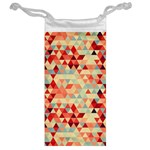 Modern Hipster Triangle Pattern Red Blue Beige Jewelry Bags Back