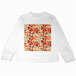 Modern Hipster Triangle Pattern Red Blue Beige Kids Long Sleeve T-Shirts Front