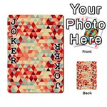 Modern Hipster Triangle Pattern Red Blue Beige Playing Cards 54 Designs  Front - Joker1