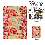 Modern Hipster Triangle Pattern Red Blue Beige Playing Cards 54 Designs  Front - Joker2